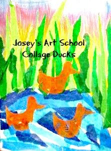 Josey's Art School is a Creativity School for kids : Ducks and Gardens Kids Art Lessons