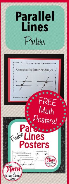 Awesome Parallel Lines poster for math classrooms!