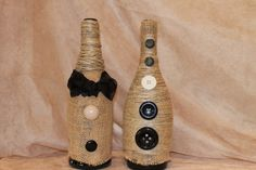Made with burlap, twine, ribbon and custom buttons to match your home.