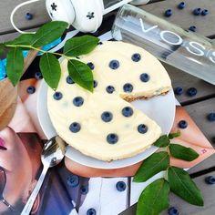 Tvarohovo-ricottový dort s borůvkami (bez mouky)