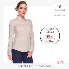 Elegancka koszula na każdą okazję teraz w jeszcze lepszej cenie. Nie przegap okazji!  Koszula Duet Woman | http://goo.gl/Yozonu