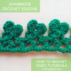 St. Patrick's day is almost here and this beautiful Shamrock Crochet Edging is so perfect for the occasion. Happy Saint Patrick's Day Everyone!!!
