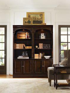 Hooker furniture bookshelf shelf arrangement