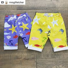 """Ooo what a lovely thing to wake up to this morning! Thank you SO much for the tag and share @mrsgifletcher """"sun's out, legs out"""" . . . The blue print is currently out of stock (😩) but should be back in stock in around 3 weeks so keep your eyes peeled and the yellow is a spring print but a very similar print called """"Beside the Sea"""" is available to order via my Etsy page (link in bio to my website) . . . #hatch #littlehatchpatch #shopsmall #buysmall #designedbyme #handmade #love #instagood…"""