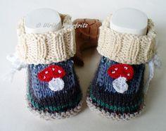 Strick- & Häkelschuhe - KCA 34 Babyschuhe Babystiefel  - ein Designerstück von strickliene bei DaWanda