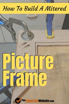 Learn how to build a customizable mitered picture frame from wood, using simple joinery and an oil finish. Build A Picture Frame, Picture Framing Tools, Picture Frames, Wood Projects That Sell, Easy Wood Projects, Woodworking For Kids, Easy Woodworking Projects, Diy Your Furniture, Wood Furniture
