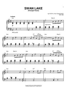 Theme from Swan Lake Sheet Music I used to be able to play that.  I think Carter will soon.