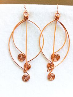 EGYPTIAN CHIMES II   Copper Dangle Earrings by ZuriEarthlyDesigns, $18.00