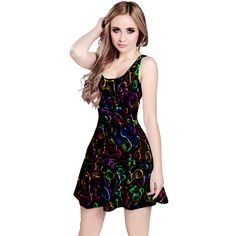 Colorful transparent shapes Sleeveless Dress #dress #fashion #womensfashion #clothing #clothes #abstract