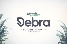 Debra Rounded - Futuristic Typeface by Publiworks on @creativemarket
