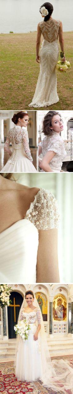 Vestido de noiva com renda!