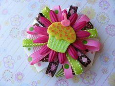 On Sale 20 Off Birthday/Cupcake Flower Hair by LivelyGirlDesigns, $4.50