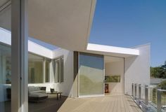 Open air living room terrace design