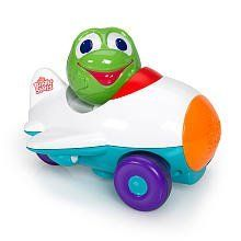 """Bright Starts Having a Ball Press & Zoom Pals - Airplane by Kids II. $17.69. Ready, Set...GO! Baby will have a ball crawling after this Bright Starts Having a Ball Press & Zoom Pals - Airplane! Insert character ball and press down to make the airplane """"crank up"""" and go. Plays silly sounds and melodies. Vehicle has unique airplane sound effects and includes one character ball."""