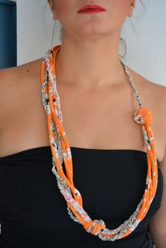 neck piece – razzmatazz* made out of soft cotton fabric stripes