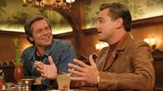 New in Theaters: 'Once Upon a Time in. Hollywood' Quentin Tarantino's ode to Tinseltown stars Leonardo DiCaprio as a fading TV actor Brad Pitt as his stunt double and Margot Robbie as Sharon Tate. Al Pacino, Quentin Tarantino, Clifton Collins Jr, Leonardo Dicaprio, Brad Pitt, Timothy Olyphant, Martin Sheen, Donald Glover, Robert Pattinson