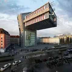 For his latest project called NHDK, Barcelona-based artist and photographer Victor Enrich ( previously ) has transformed an ordinary-looking building in Munich into a surreal and impossible architecture…
