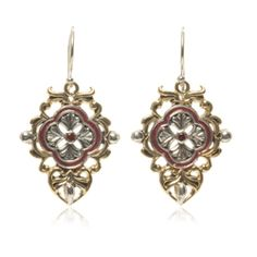 Red Carpet Collection #esbedesigns #Fall2014  Red Carpet Earrings Sterling #Silver And #Brass #garnet and red enamel #earrings ES355 #handcrafted #gift #jewelry #designer #bracelet #esbedesigns