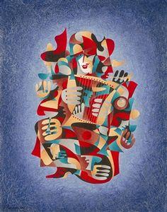 183520                                                                 Krasnyansky, Anatole Music of Moscow #4 2006 36'' x 28'' Watercolor a...