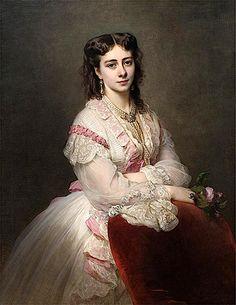 1865 Countess Maria Branicka de Bialacerkiew (1843- 1919), née Princess Sapieha-Rozanska by Franz Xaver Winterhalter (Philadelphia Museum of Art - Philadelphia, Pennsylvania USA) from www.liveinternet.ru:users:katish_09: x2