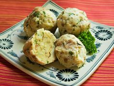 (about 10 small dumplings)          My mum sent me a wonderful German cookbook. One of the first things I checked out were the dumplings. ...