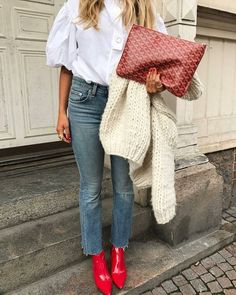 Boots, Red, Inspiration, Streetstyle, Fashion, Shoes