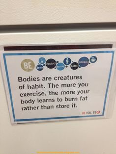 "Gym Motivation. This probably why when you stop exercise you get heavier than before because your body ""forgets""!"