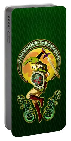 Triforce The Mighty Link Portable Battery Charger Available for @pointsalestore #portablebatterycharger #case #cartoon #comic #littleboy #link #mashup #legendofzelda #triforce #themighty