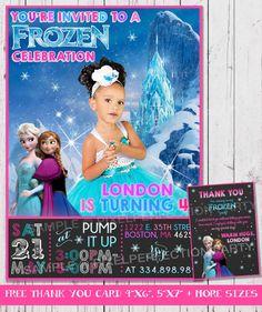 Frozen Invitation Frozen Birthday by PixelPerfectionParty on Etsy