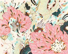 Original Drawing by Yellena James by yellena on Etsy Yellena James, Homemade Art, Contemporary Abstract Art, Anatomy Art, Art Tutorials, Art Inspo, Alice In Wonderland, Painting & Drawing, Art Drawings
