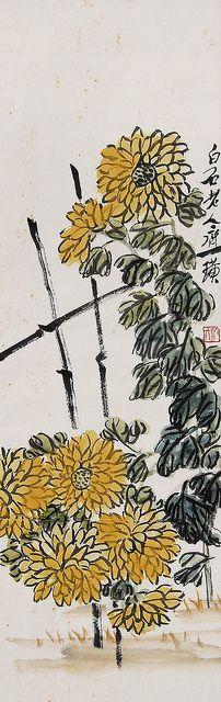齐白石 菊花 by China Online Museum - Chinese Art Galleries, via Flickr