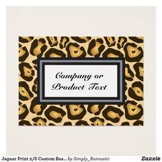 Jaguar Print 2/S Custom Business/product card