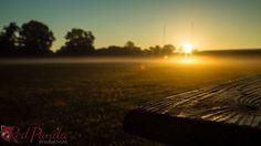 Photograph of an Autumn Dawn Sunrise over Football by RedPandaProd, www.etsy.com/shop/redpandaprod