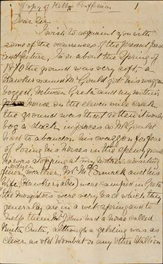 Page 1 of a hand-written transcription of Ned Kelly's 56 page letter.'I am a Widow's Son, outlawed and my orders must be obeyed'. With these chilling words bushranger Ned Kelly ended the Jerilderie letter, a detailed written justification of his actions. Read the full transcription of the letter and learn why this manifesto is regarded by some as an early call for an Australian republic.