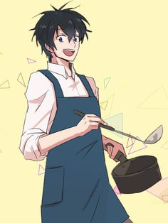 Imagine if Ashiya could cook! That would be so cuteeeee By @grrgbrr on Twitter