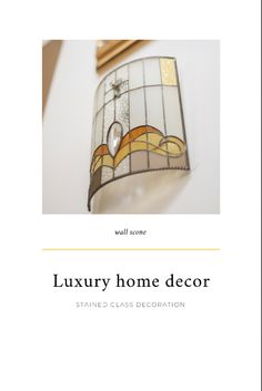#stainedglassart #stainedglasslamp #lampshade #tiffanyglass #walldecorideas #walldecorlivingroom