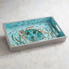 Turtle Mosaic Tray