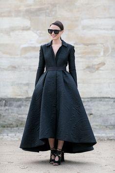 ah-freakin-mazing. Zina in Paris. #Fashionvibe