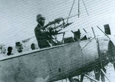 Monoplano biplace Morane Saulnier Tipo L com uma Lewis s