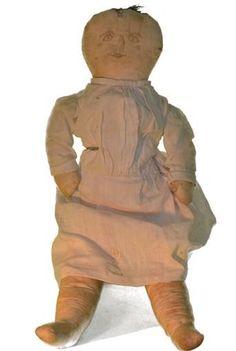 Old Doll Cloth Doll Rag Doll Folk Art Primitive