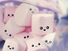 Cute mellows by *mavigozlum on deviantART Cute Iphone Wallpaper Tumblr, Cute Emoji Wallpaper, Smile Wallpaper, Cute Cartoon Wallpapers, Cute Wallpaper Backgrounds, Cute Photos, Cute Pictures, Marshmallow Pictures, Cute Things For Girls