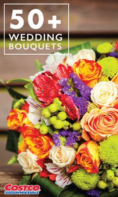 Summer wedding coming up? Finish your wedding planning by finding your perfect flowers for your ceremony with Costco.com's wide variety of 50+ Wedding Bouquets. With buds including roses, sunflowers, lilies, and more, whatever your color scheme or theme, you're sure to find the perfect arrangement. Tip: Some Costco members work with local florists to design bouquets, saving them money.