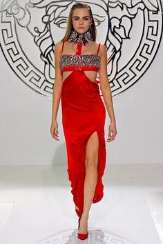 Cara Delevingne at Versace RTW F/W 2013
