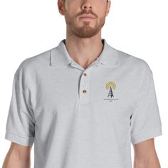 Yorkshire Terrier Polo Shirt, Dog Embroidered Men's Polo Shirts, Yorkie Dog Dad Shirt, Dog Dad Gifts, Gift for Dad Yorkie, Chihuahua, Dog Dad Gifts, Embroidered Polo Shirts, Bbq Rub, Great Conversation Starters, Dad To Be Shirts, Pitbull, French Bulldog