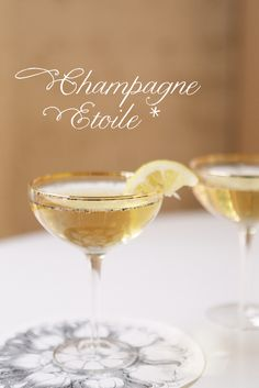 champagne + bourbon + vanilla bean + a touch of lemon... // the champagne etoile via coco+kelley