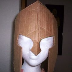 How to Make Spartan Armor From Cardboard - Masken Basteln Kinder Cardboard Costume, Cardboard Mask, Cardboard Paper, Roman Soldier Helmet, Roman Helmet, Soldier Costume, Knight Costume, Crafts For Boys, Diy For Kids