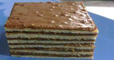 Koldus torta hatlapos Torte Cake, Cake Bars, My Recipes, Sweet Recipes, Dessert Recipes, Ital Food, Hungarian Recipes, Hungarian Food, Traditional Cakes