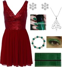 """christmas party outfit"" by fashionbyreagan on Polyvore"