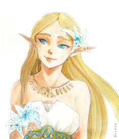 Breath of the Wild - Zelda by Olyvee