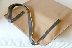 Leather Tote Bag handmade leather tote by Creazionidiangelina